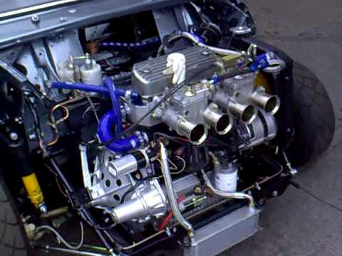 7 Port Classic Mini 1380cc With Twin 45 Webbers Youtube