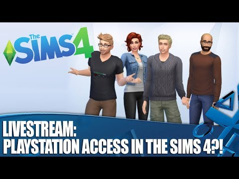 Livestream: PlayStation Access in The Sims 4?!