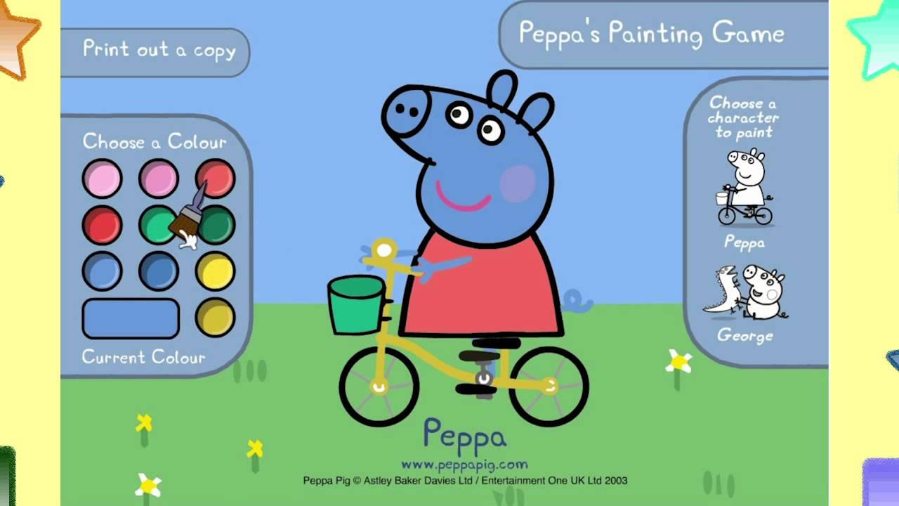 Peppa Pig Games Online Peppa S Painting Game