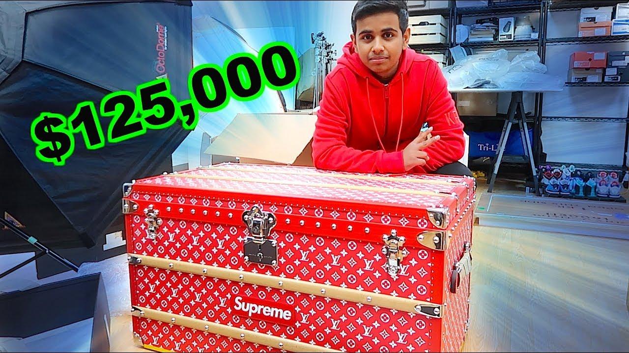 THE $125,000 SUPREME LOUIS VUITTON TRUNK !!!