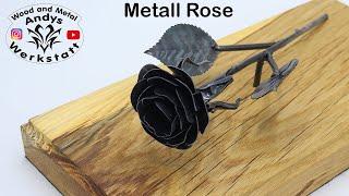 Wie geht das? Metall Rose auf Eichebrett - selber machen / Step by Step