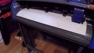 Titan 3 Vinyl Cutter How to move your vinyl with arrow keys