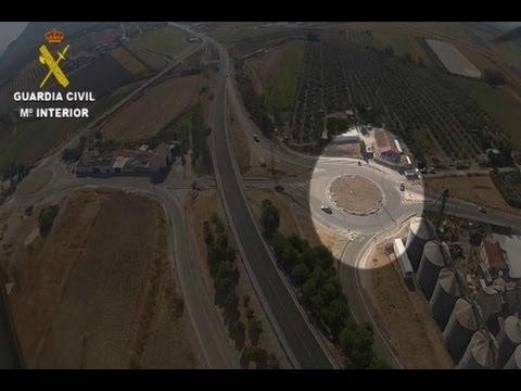 Persecución por tierra y aire de un fugitivo en Granada