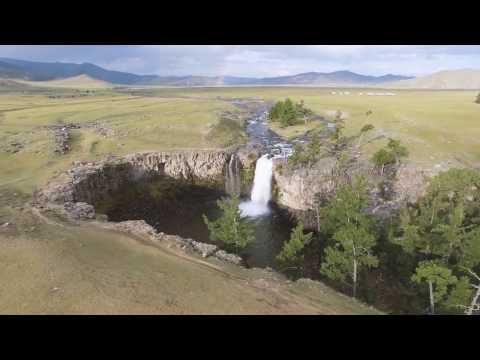 Mongolia drone view