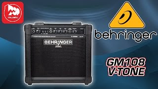 Гитарный комбик BEHRINGER GM108 V-TONE(Гитарный комбоусилитель BEHRINGER GM108 V-TONE http://goo.gl/ffu3En – это простой и доступный 15-ваттный аппарат, предназначен..., 2015-01-08T06:06:56.000Z)