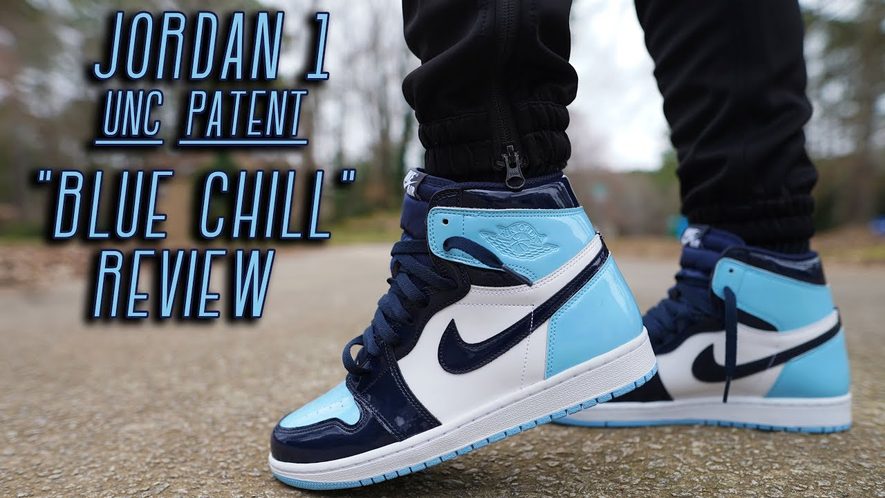 Cop Or Not Air Jordan 1 Unc Patent Blue Chill Review And On Foot Youtube