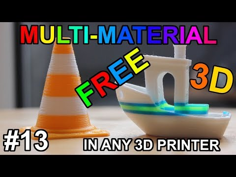 Multi material in ANY 3D Printer for FREE