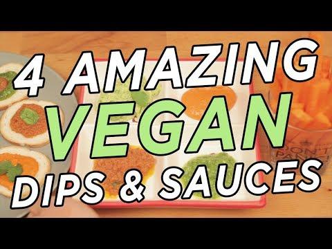 TOP 4 Vegan Dips and Sauces - PARTY FOOD - Mum Cooks