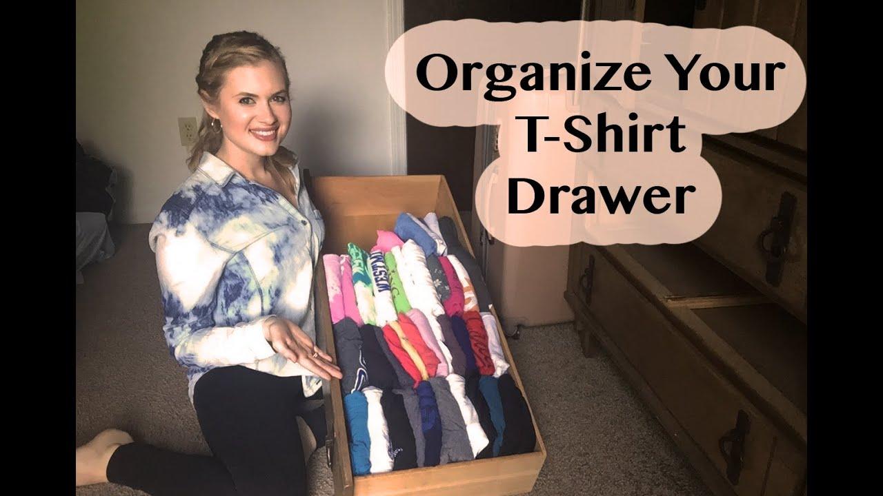 Organize your t shirt drawer youtube for T shirt drawer organization