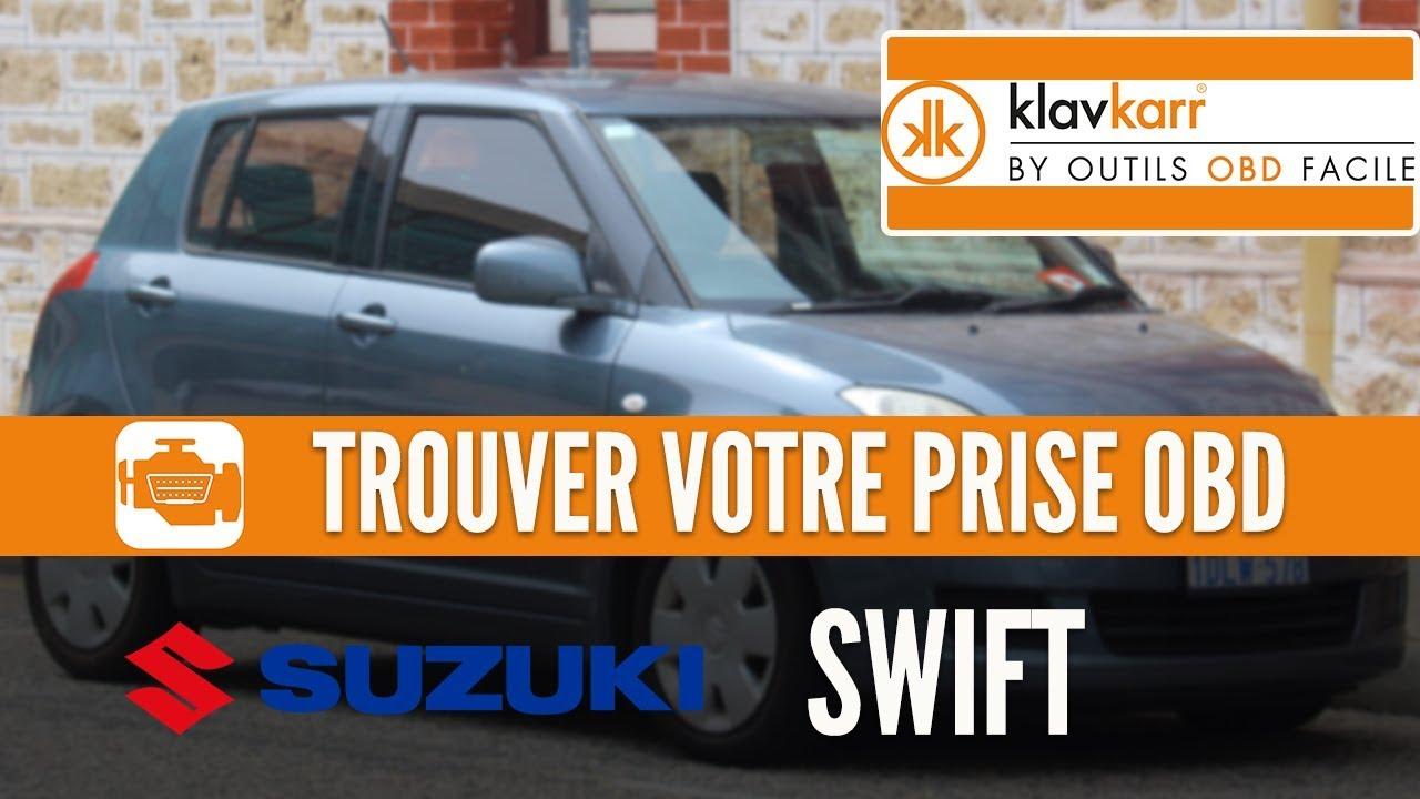 OBD2 socket Swift (Suzuki) : How to find the OBD port