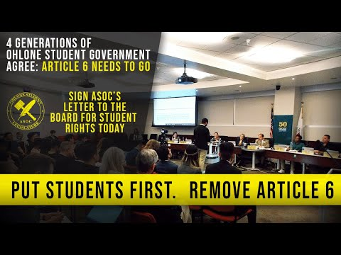 Ohlone College: Put Students First. Remove Article 6.