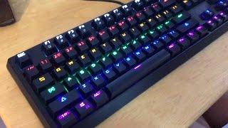 linktop k23 anti ghosting rainbow backlight keys mechanical usb gaming keyboard unboxing
