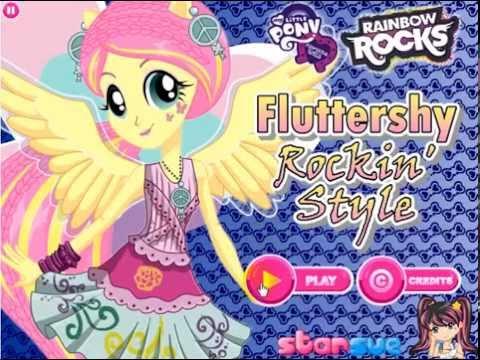 Девушка Эквестрии Флаттершай. Май литл пони. Игра для девочек одевалки.Как переодеть пони?