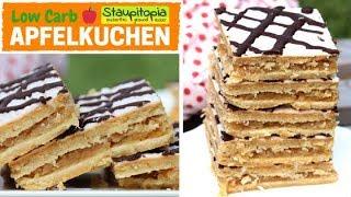 Low Carb Apfelkuchen backen auf dem Blech | Apfelkuchen ohne Mehl und Zucker mit Low Carb Mürbeteig