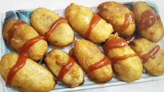 Bread roll recipe  crispy and simple snack recipe  potato stuffed bread roll recipe