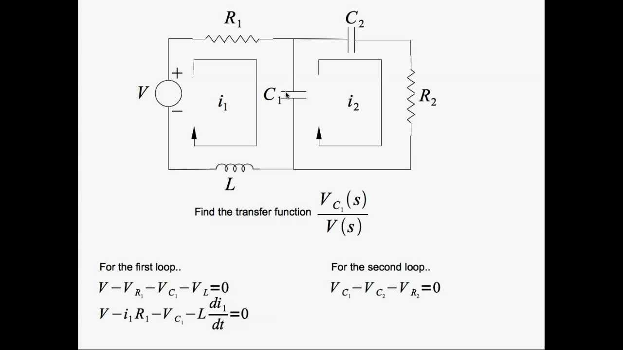 Transfer Function Of A 2 Loop Rlc Circuit Youtube Define Parallel