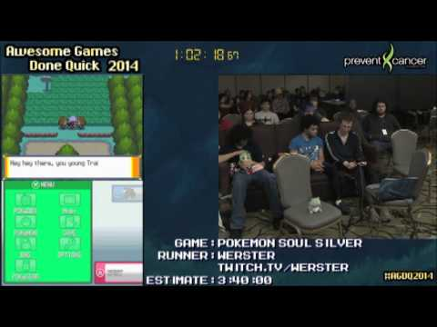 [Twitch VOD] Pokemon Soul Silver Speedrun - Live at AGDQ 2014