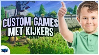 CUSTOM GAMES WITH YOU!! Coins   Fortnite Live (NL/English)