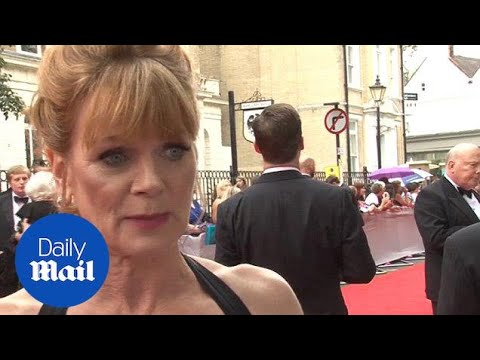 Samantha Bond tears up talking about last Downton   Daily Mail