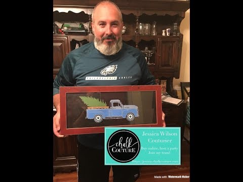 Chalk Couture with Brandon- Man Cave Decoration with Vintage Truck Transfer