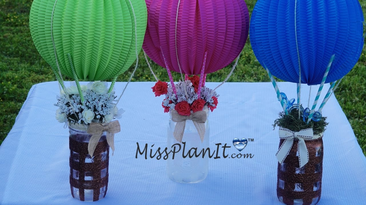 Mason jar baby shower centerpiece diy how to create