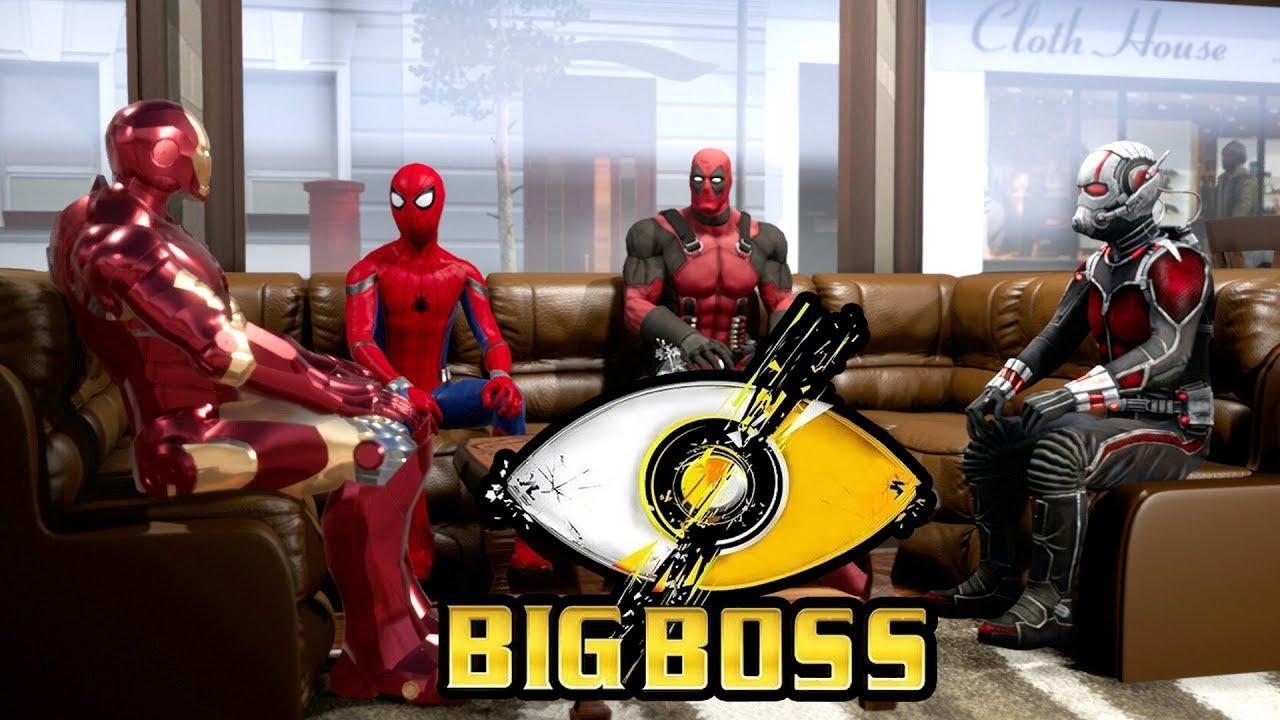 Bigg Boss   Spoof   Deadpool, Ant-Man, Iron Man & Spider-Man   Hindi Comedy Video   Pakau TV ...