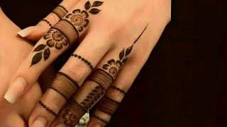 Most stylish finger mehndi design for hands || Latest new finger mehndi || Simple Mehndi ||