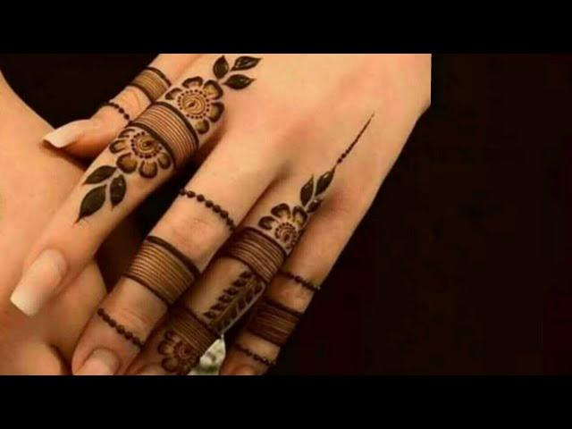 Most stylish finger mehndi design for hands    Latest new finger mehndi    Simple Mehndi   