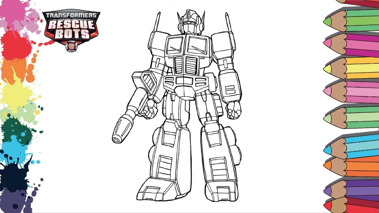 Transformers Rescue Bots Page Coloring How To Coloring Rescue Bots Optimus Prime Youtube