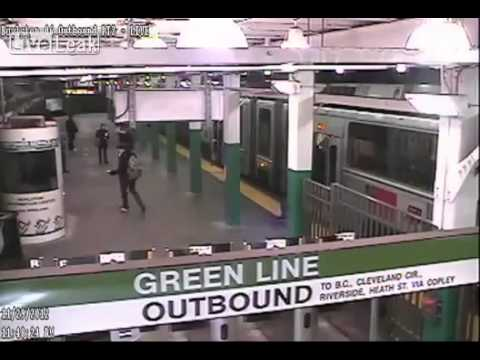 MBTA Releases Footage of Green Line Boylston Station Train Crash