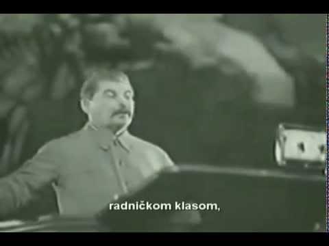 Govor Druga Staljina, 11. decembar 1937. Stalin's speech, 11th december 1937