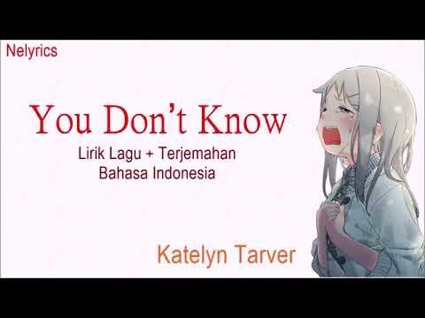 Katelyn Tarver - You Don't Know (Lirik Dan Terjemahan)