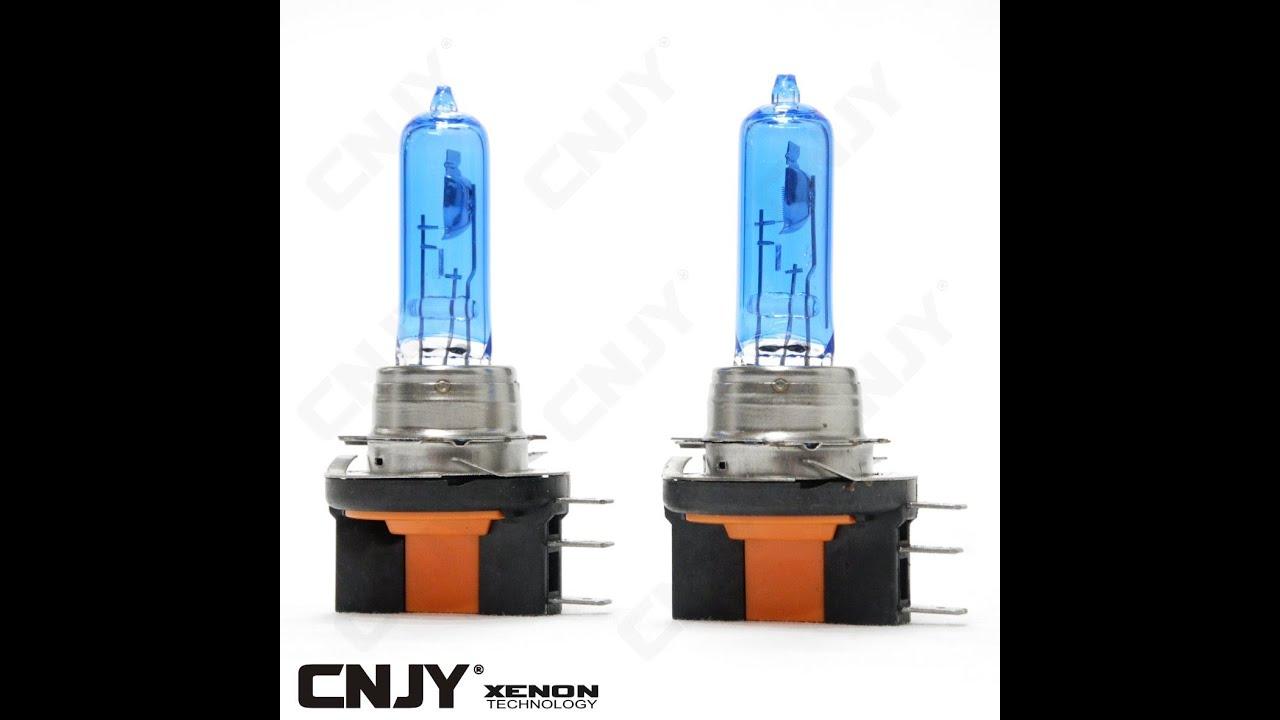 ampoule de rechange h15 15 55w look xenon led plasma kit hid 5000k pour montage sur vw golv 6. Black Bedroom Furniture Sets. Home Design Ideas