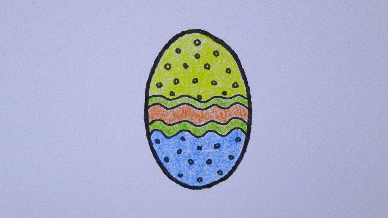 Cmo dibujar un huevo de Pascua con facilidad  YouTube