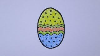 Cómo dibujar un huevo de Pascua con facilidad