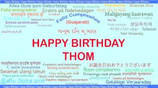 Thom   Languages Idiomas - Happy Birthday