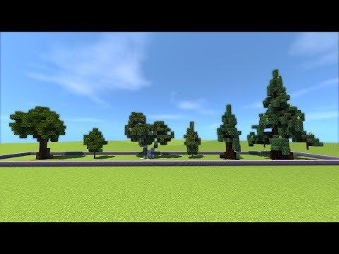 How To Build These Minecraft Trees Oak Birch Pine Stevertus