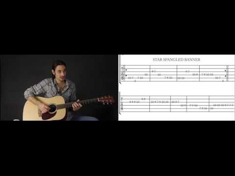 Beginner Guitar Lesson 7 How To Play The Star Spangled Banner Youtube