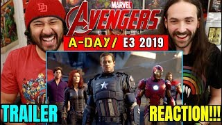 MARVEL'S AVENGERS: A-Day | TRAILER (E3 2019) - REACTION!!!