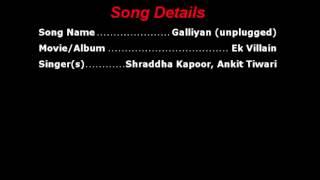 Galiyan (reprise) karaoke with lyrics
