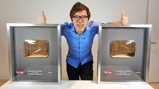 ついにYouTubeから金の再生ボタンが届いたぞ! thumbnail