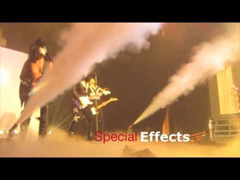 Karaoke Rock Band Kiss Effects with cryo co2 FX jets