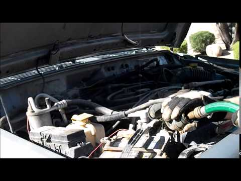 jeep cherokee cooling system flush - YouTube