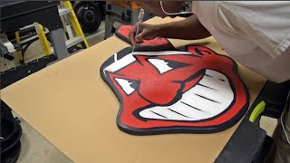 How To Make A Yard Sign - Cleveland Indians Chief Wahoo