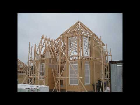 """""""Каркасные дома"""" в коттеджном посёлке или как их строят...."""