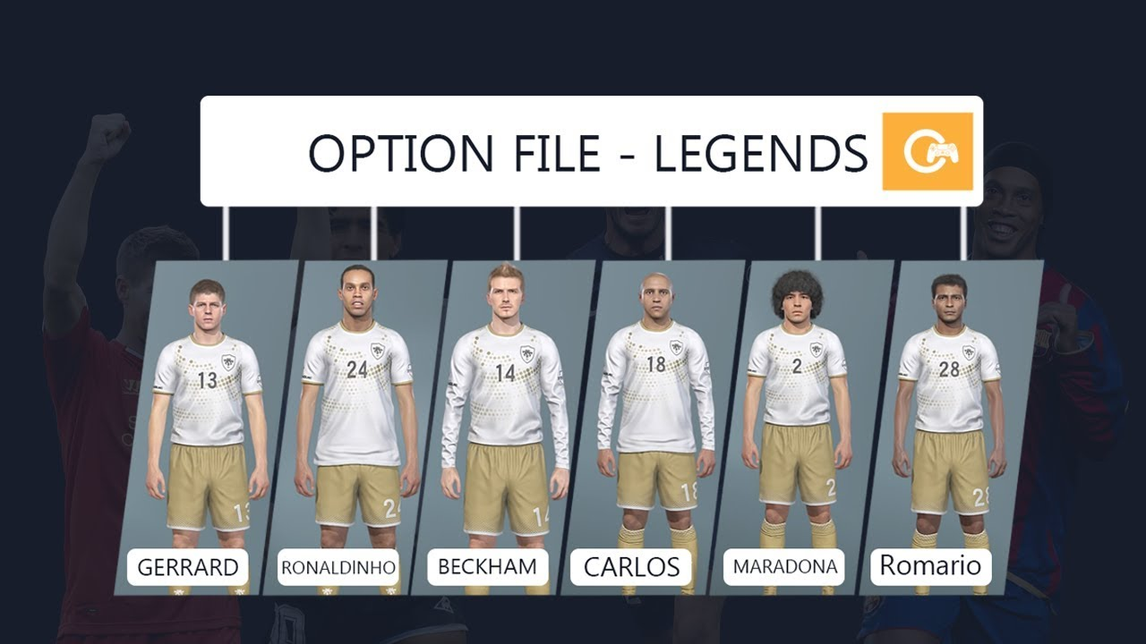 PES 2019 - New | OPTION FILE - LEGENDS | Preview & Tutorial #PS4