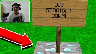 TROLLING THIS KIDS FIRST DAY ON MINECRAFT...