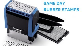 Same day custom rubber stamp? Here's how