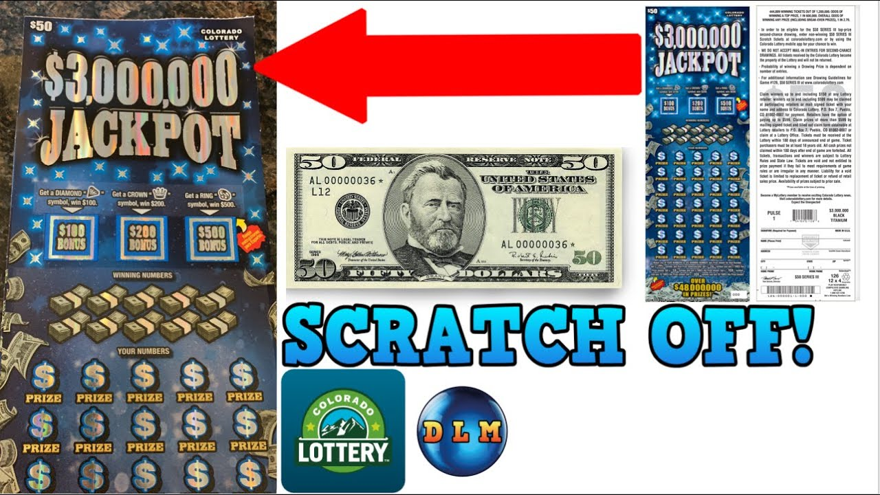 WE HAVE A WINNER 💰 $3 MILLION PRIZE SCRATCH OFF TICKET FROM THE COLORADO LOTTERY