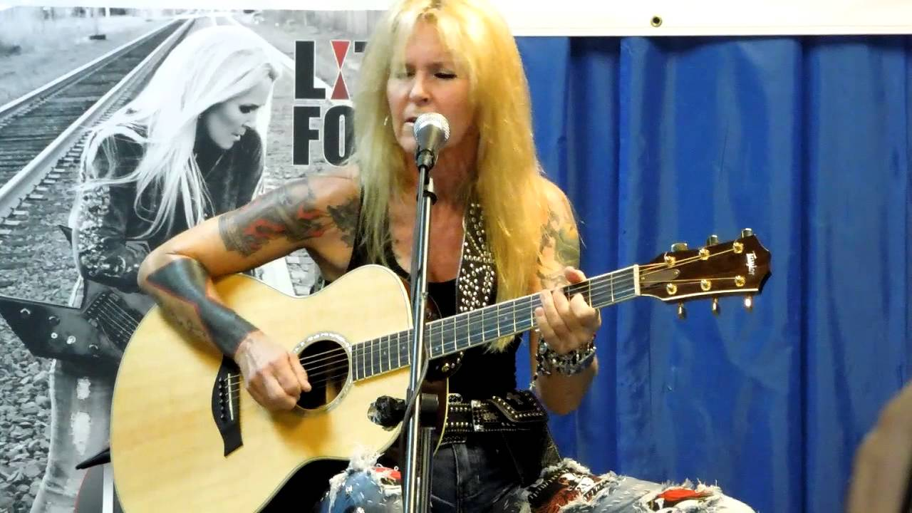 Lita Ford Close My Eyes Forever Live Acoustic Vintage